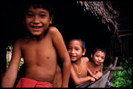 Mentawai Children, Siberut island, Indonesia
