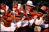 Folk In Prostejov, Moravia Historical, Czech republic