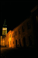 Novy Jicin In Night, Northern Moravia, Czech republic