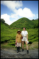 Eva And Local Worker, Cameron Highlands, Malaysia