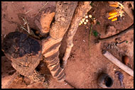 Lobi Home From Bird's View, Lobi tribe, Ghana