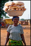 Bread Seller, Local market, Ghana
