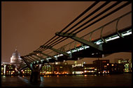 The Millenium Bridge, London In The Night, England