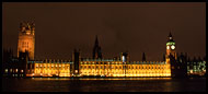 Palace Of Westminster, London In The Night, England
