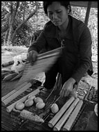 Preparing Food, Vietnam in B&W, Vietnam