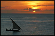 Dhow And Sunset, Stone Town, Tanzania