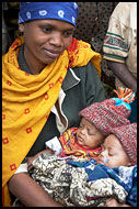 Mother With Kids, People Of Usambara Mountains, Tanzania