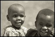 Brothers, Colorized Tanzania, Tanzania