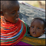 Samburu Mum And Kid, Samburu Portraits, Kenya