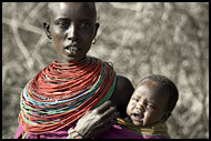 Samburu Woman And Her Baby, Samburu Portraits, Kenya