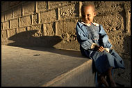 Young Girl And Sunset, Northern Part, Kenya