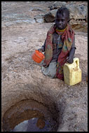 Turkana Girl Getting Water, Turkana Tribe, Kenya