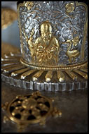 Decorated Casket, Golden Temple, Namdroling Monastery, India