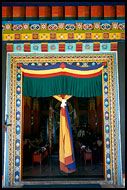Gompa Entrance, Golden Temple, Namdroling Monastery, India