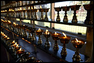 Oil Lamps, Golden Temple, Namdroling Monastery, India