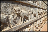 Wall Carvings, Hazara Ramachandra Temple, Hampi Historical, India