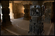 Inside Hazara Ramachandra Temple, Hampi Historical, India