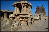 Chariot At Vittala Temple, Hampi Historical, India