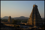 Virupaksha Temple At Sunset, Hampi Historical, India