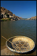 The Coracle - An Ancient Boat, Hampi - Nature, India