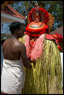 Dressing Up The Dancer, Theyyam Ritual Dance, India