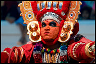 Dancer With Colorful Mask, Theyyam Ritual Dance, India
