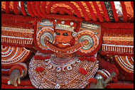 Decoration Of The Dancer, Theyyam Ritual Dance, India