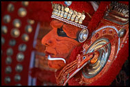 Detail Of Colorful Mask, Theyyam Ritual Dance, India