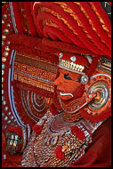 Resting Theyyam Dancer, Theyyam Ritual Dance, India
