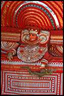 Resting Theyyam Performer, Theyyam Ritual Dance, India