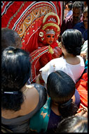 Blessing Given By Kolam, Theyyam Ritual Dance, India