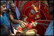 Giving A Blessing, Theyyam Ritual Dance, India