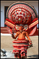 Decorated Theyyam Dancer, Theyyam Ritual Dance, India