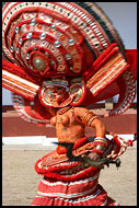 Wild Theyyam Dance, Theyyam Ritual Dance, India