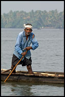 Man On A Boat, Backwaters, India