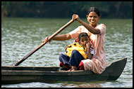 Residents Of Backwaters, Backwaters, India
