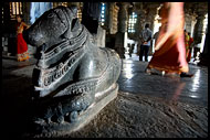 Interior Of Hoysaleswara Temple, Belur And Halebid, India
