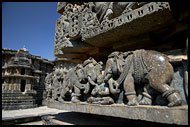 Detail Of Elephant Carving On Hoysaleswara Temple, Belur And Halebid, India