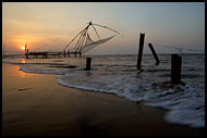 Sunset And Chinese Net, Cochin - Chinese Nets (Cheena vala), India