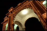 One Of Gates Of Maharajah's Palace, Mysore, India
