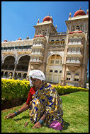Taking Care Of Mysore Palace, Mysore, India