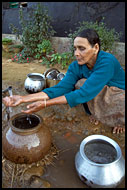 Woman Washing Pots, Coorg (Kodagu) Hills, The People, India
