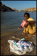 Dhobi - A Washerman, Hampi, The People, India