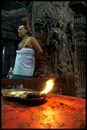 Priest In A Temple, Belur, The People, India