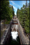 The Tallest Lock - Vrangfoss, The Telemark Canal (Telemarkskanalen), Norway
