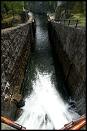 Entrance To The Lock Chamber, The Telemark Canal (Telemarkskanalen), Norway