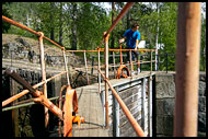 Manual Service Of The Lock Chambers, The Telemark Canal (Telemarkskanalen), Norway