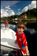Enjoying The Telemakskanalen, The Telemark Canal (Telemarkskanalen), Norway