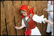 Dancer In Traditional Wallachian Costume, Spring celebrations in Wallachia, Czech republic