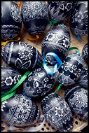 Hand Decorated Eggs, Spring celebrations in Wallachia, Czech republic